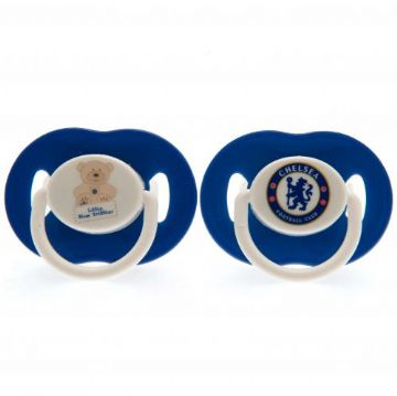 Chelsea FC Baby Soothers / Dummies (2 Pack)